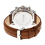 Breed Unisex Adult Brown Leather Strap Watch-Brd6802