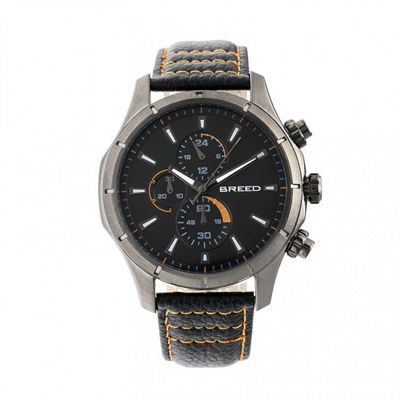 Breed Unisex Black Strap Watch-Brd6805