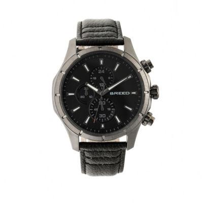 Breed Unisex Black Strap Watch-Brd6804