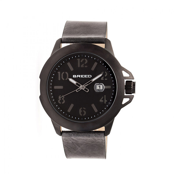 Breed Unisex Gray Strap Watch-Brd7103