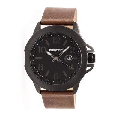 Breed Unisex Brown Strap Watch-Brd7104
