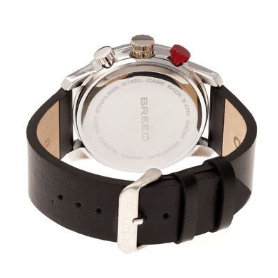 Breed Unisex Black Strap Watch-Brd7202