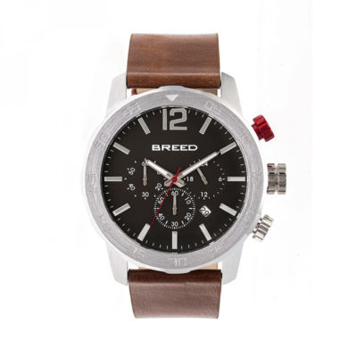 Breed Unisex Brown Strap Watch-Brd7203