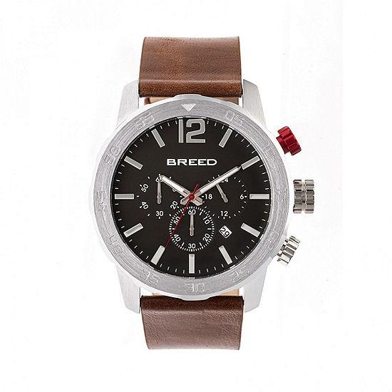 Breed Unisex Brown Strap Watch-Brd7203