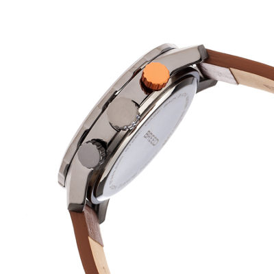 Breed Unisex Brown Strap Watch-Brd7204