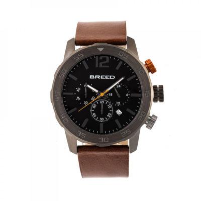 Breed Unisex Brown Strap Watch-Brd7205