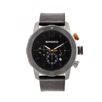 Breed Unisex Black Strap Watch-Brd7206