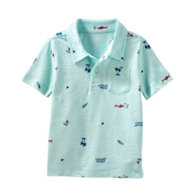 Oshkosh Short Sleeve Jersey Polo Shirt - Baby Boys