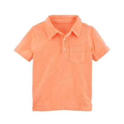 Carter's Short Sleeve Knit Polo Shirt - Toddler Boys 2T-5T