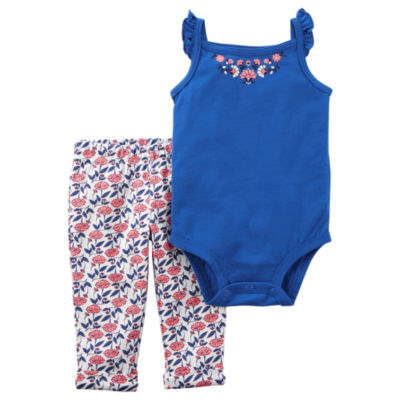 Carter's Floral Bodysuit & Legging 2 Piece Set - Baby Girl NB-24M