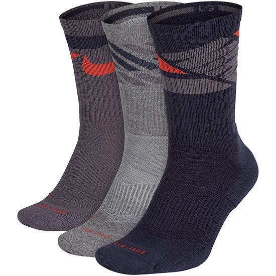 Nike Training 3 Pk Crew Socks