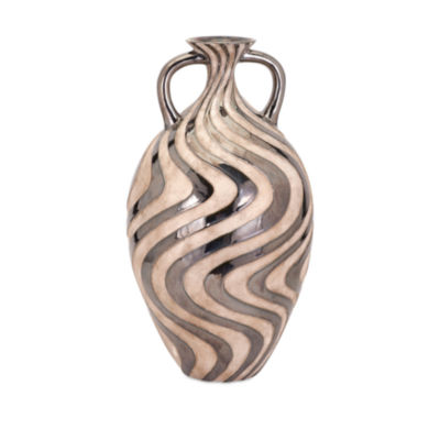IMAX Worldwide Home Leza Swirl Earthenware Vase