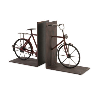 IMAX Worldwide Home Renee Bicycle Bookends - Set of 2