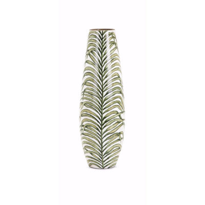 IMAX Worldwide Home Palm Handpainted Vase