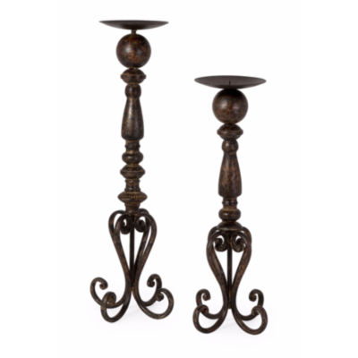 IMAX Worldwide Home Darby Candle Stands  - Set of2