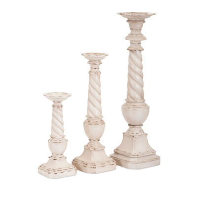 IMAX Worldwide Home Brannon Candleholders - Set of3