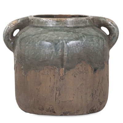 IMAX Worldwide Home Bardot Blue Stone Ceramic Vase