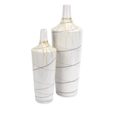 IMAX Worldwide Home Curasso Retro Finish Vases - Set of 2