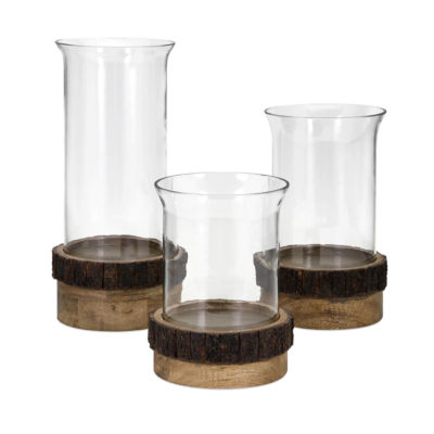 IMAX Worldwide Home Damari Pillar Candleholders -Set of 3