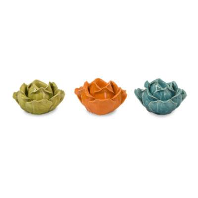 IMAX Worldwide Home Chelan Flower Candleholders inGift Box - Set of 3