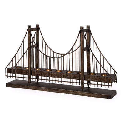 IMAX Worldwide Home Suspension Bridge Candleholder