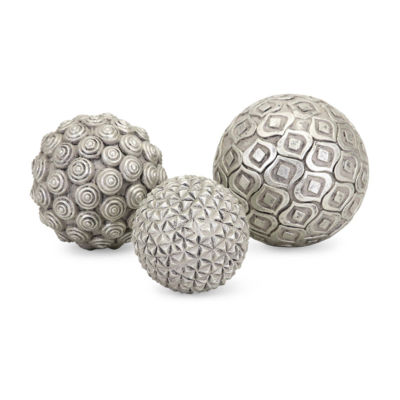 IMAX Worldwide Home Nahara Silver Balls - Set of 3