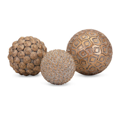 IMAX Worldwide Home Nahara Gold Balls - Set of 3