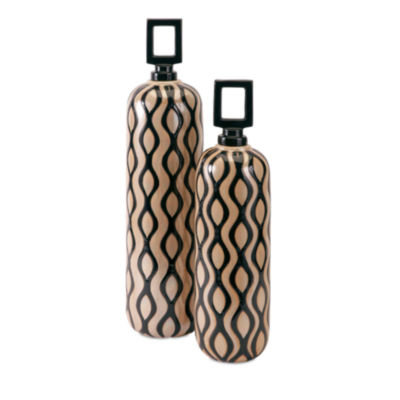 IMAX Worldwide Home Floressa Jars with Stoppers -Set of 2