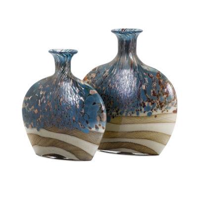 IMAX Worldwide Home Nordiak Glass Vases - Set of 2