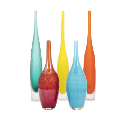 IMAX Worldwide Home Kepla Glass Vases - Set of 5