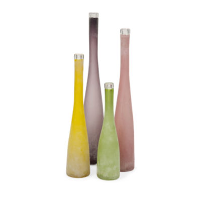 IMAX Worldwide Home Walters Multi Colored Vases -Set of 4
