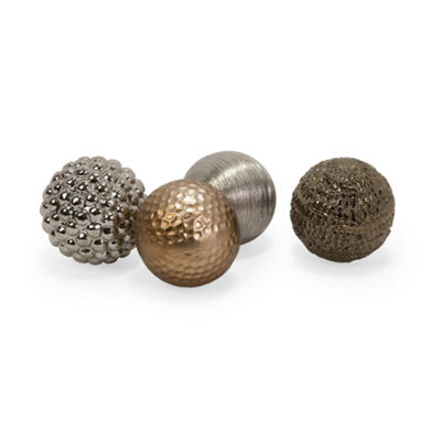 IMAX Worldwide Home Metallic Finished Orbs - Set of 4