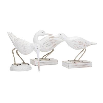 IMAX Worldwide Home Coastal Carved Wood Seabirds -Set of 3