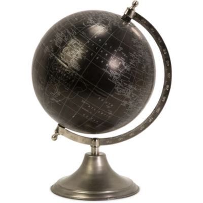 IMAX Worldwide Home Moonlight Globe with Nickel Finish Stand