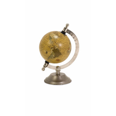 IMAX Worldwide Home Colony Globe with Nickel Finish Base