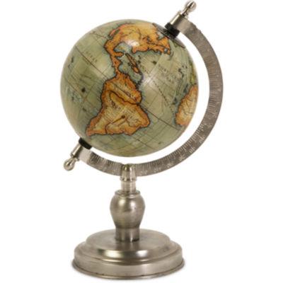 IMAX Worldwide Home Colombo Globe with Nickel Finish Base