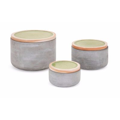 IMAX Worldwide Home Molly Cement Lidded Boxes - Set of 3
