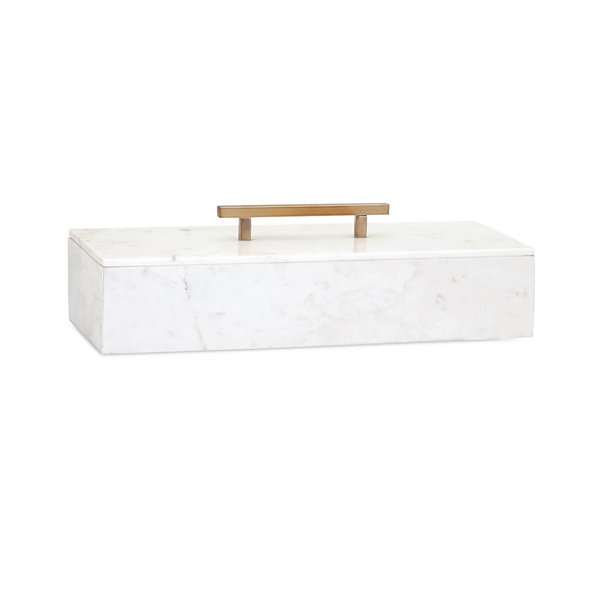 IMAX Worldwide Home Keely Marble Lidded Box