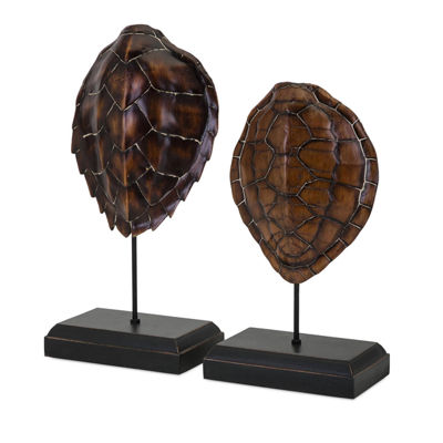 IMAX Worldwide Home Sanem Turtle Shells on Stands- Set of 2