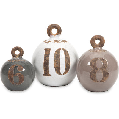 IMAX Worldwide Home Hotham Decorative Fishing Weights - Set of 3