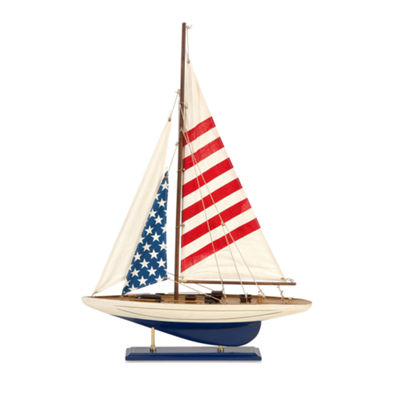 IMAX Worldwide Home Carter American Flag Sailboat