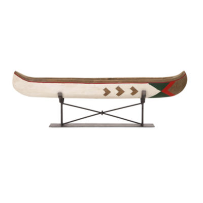 IMAX Worldwide Home Adirondack Canoe on Metal Stand