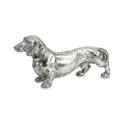IMAX Worldwide Home Oscar Stick Silver Dog Statue