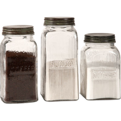 IMAX Worldwide Home Dyer Glass Canisters - Set of3