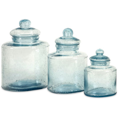 IMAX Worldwide Home Cyprus Glass Canisters - Set of 3