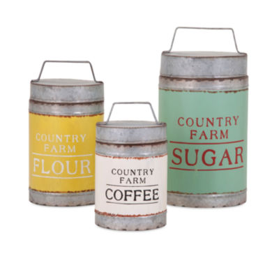IMAX Worldwide Home Dairy Barn Decorative Lidded Containers - Set of 3