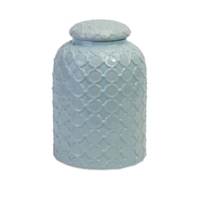 IMAX Worldwide Home Robin's Egg Blue Lidded Jar