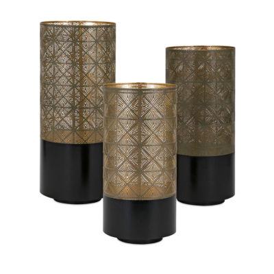 IMAX Worldwide Home Manhattan Pierced Lanterns - Set of 3