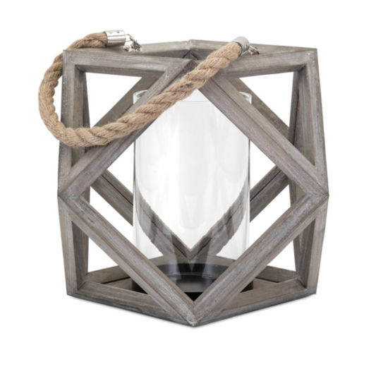 IMAX Worldwide Home Ares Wood Lantern