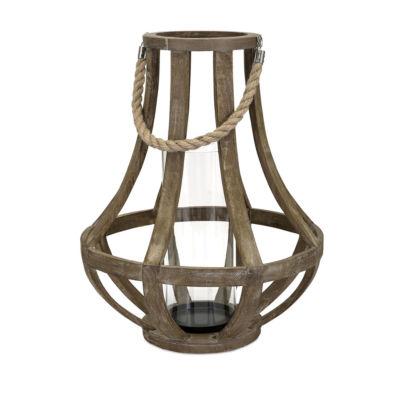 IMAX Worldwide Home Bacchus Wood Lantern